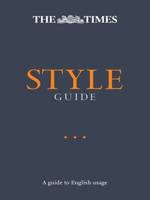 cover image of The Times Style Guide