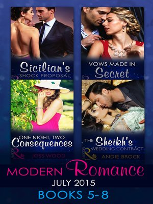 cover image of Modern Romance July 2015 Books 5-8