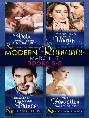 cover image of Modern Romance March 2017 Books 5 -8