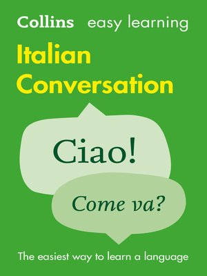 cover image of Easy Learning Italian Conversation