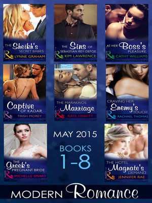 cover image of Modern Romance May 2015 Books 1-8