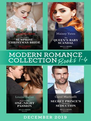 cover image of Modern Romance December 2019 Books 1-4