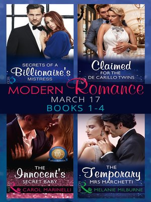 cover image of Modern Romance March 2017 Books 1--4