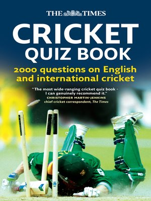 cover image of The Times Cricket Quiz Book