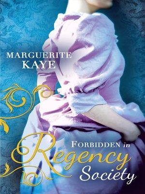 cover image of Forbidden in Regency Society