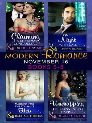 cover image of Modern Romance November 2016 Books 5-8