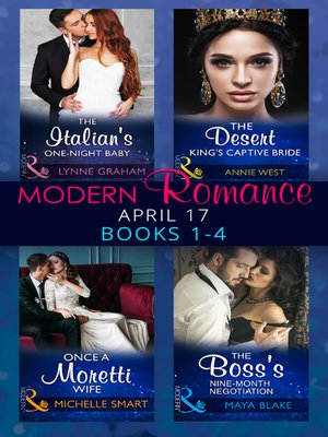 cover image of Modern Romance April 2017 Books 1-4