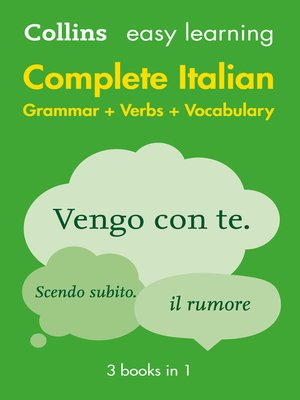 cover image of Easy Learning Italian Complete Grammar, Verbs and Vocabulary