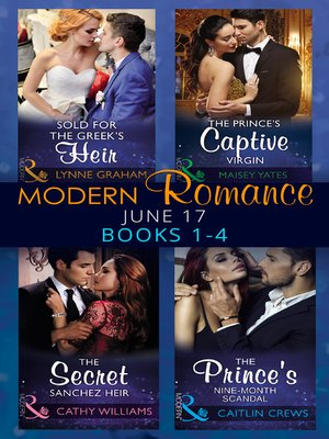cover image of Modern Romance June 2017 Books 1--4