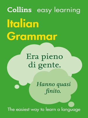 cover image of Easy Learning Italian Grammar