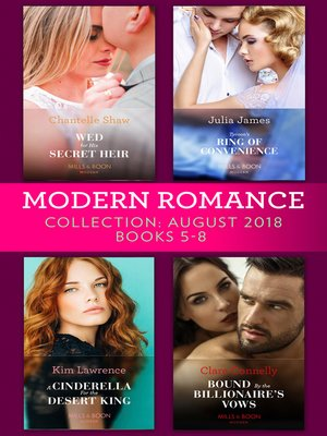 cover image of Modern Romance August 2018 Books 5-8 Collection