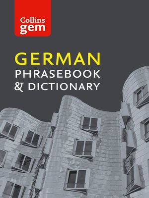 cover image of Collins German Phrasebook and Dictionary Gem Edition