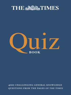 cover image of The Times Quiz Book