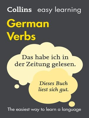 cover image of Easy Learning German Verbs