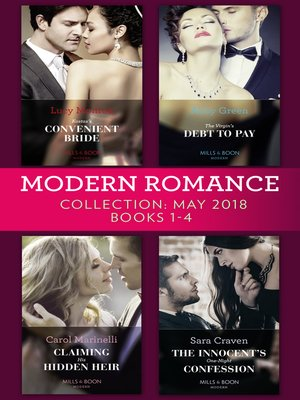 cover image of Modern Romance Collection, May 2018 Books 1--4