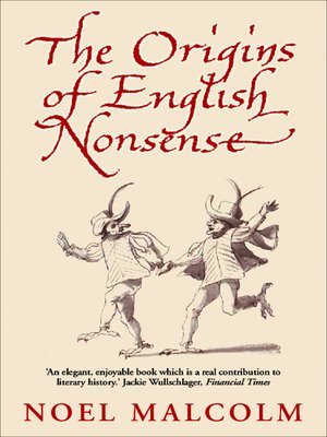 cover image of The Origins of English Nonsense