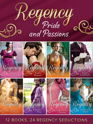 cover image of Regency Pride and Passions