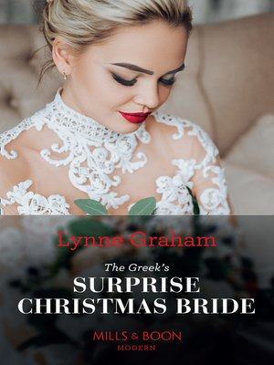 cover image of The Greek's Surprise Christmas Bride