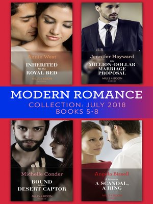 cover image of Modern Romance July 2018 Books 5-8 Collection