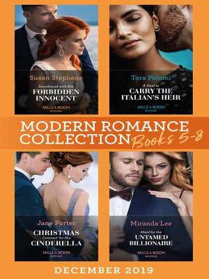 cover image of Modern Romance December 2019 Books 5-8