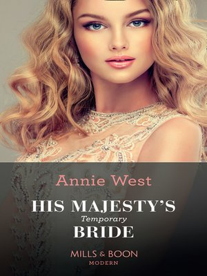 cover image of His Majesty's Temporary Bride