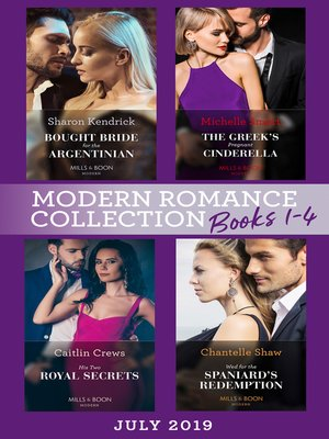 cover image of Modern Romance July 2019 Books 1-4