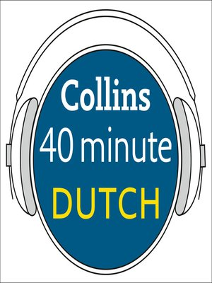 cover image of Dutch in 40 Minutes