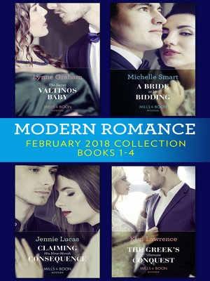 cover image of Modern Romance Collection, February 2018 Books 1--4
