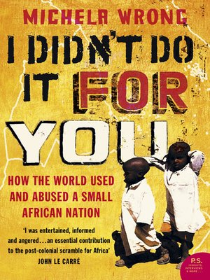 cover image of I Didn't Do It For You