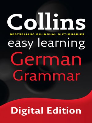 cover image of Collins Easy Learning German Grammar