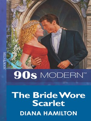 cover image of The Bride Wore Scarlet
