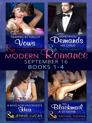 cover image of Modern Romance September 2016 Books 1-4