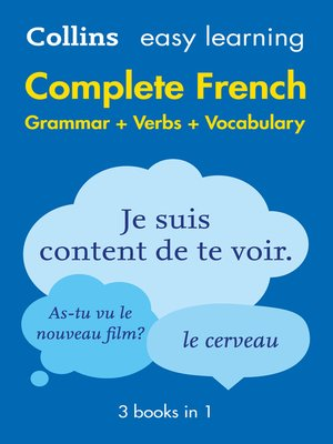 cover image of Easy Learning French Complete Grammar, Verbs and Vocabulary