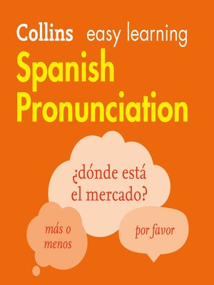 cover image of Spanish Pronunciation