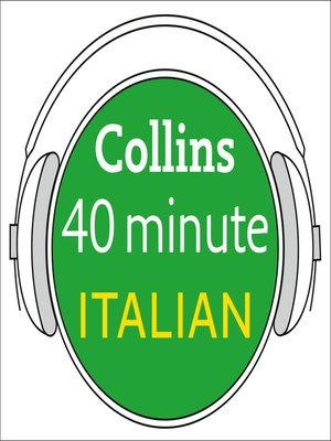 cover image of Italian in 40 Minutes