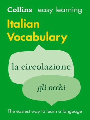 cover image of Easy Learning Italian Vocabulary