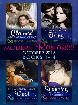 cover image of Modern Romance October 2015 Books 1-4