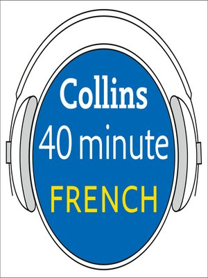 cover image of French in 40 Minutes