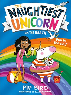 cover image of The Naughtiest Unicorn on the Beach