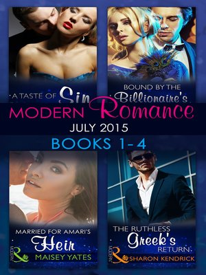 cover image of Modern Romance July 2015 Books 1-4