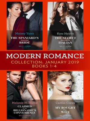 cover image of Modern Romance January Books 1-4