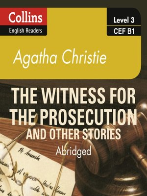 cover image of Witness for the Prosecution and other stories