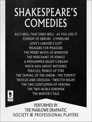 cover image of Shakespeare, The Comedies
