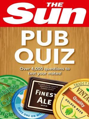 cover image of The Sun Pub Quiz