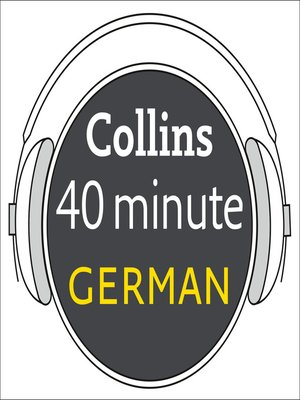cover image of German in 40 Minutes