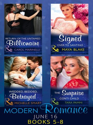 cover image of Modern Romance June 2016, Books 5-8