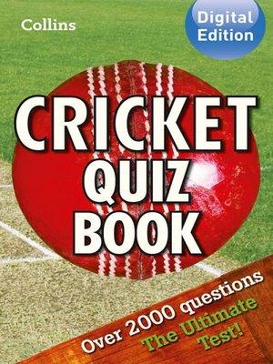 cover image of Collins Cricket Quiz Book