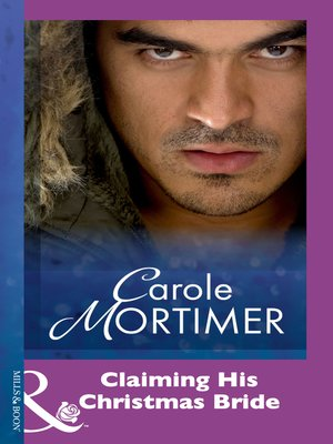cover image of Claiming His Christmas Bride