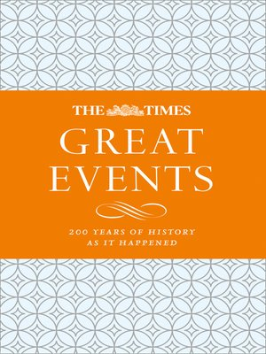 cover image of The Times Great Events