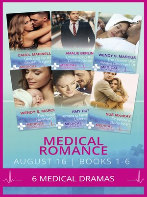 cover image of Medical Romance August 2016 Books 1-6